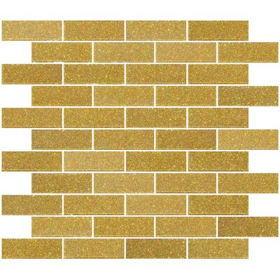 1 x 3 Glass Subway Tile in Soft Gold
