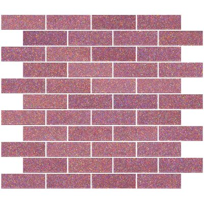 1 x 3 Glass Subway Tile in Pink