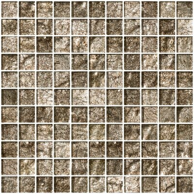 1 x 1 Glass Mosaic Tile in Espresso Brown