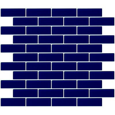 1 x 3 Glass Subway Tile in Navy Blue