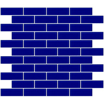 1 x 3 Glass Subway Tile in Glossy Cobalt Blue