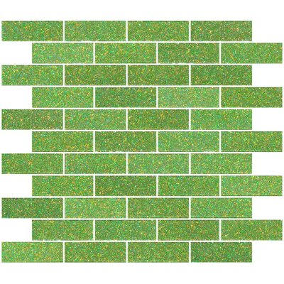 1 x 3 Glass Subway Tile in Glossy Lime green