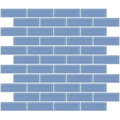 1 x 3 Glass Subway Tile in Light Periwinkle Blue