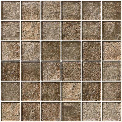 2 x 2 Glass Mosaic Tile in Cocobean Sheen