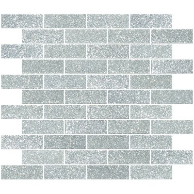 1 x 3 Glass Subway Tile in Silver