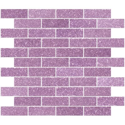 1 x 3 Glass Subway Tile in Barbie Pink