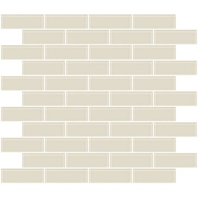 1 x 3 Glass Subway Tile in Vanilla Bone White