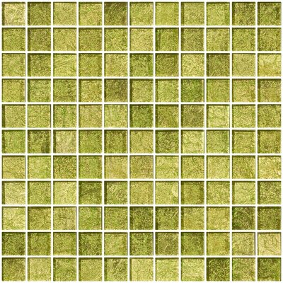 1 x 1 Glass Mosaic Tile in Golden Dew