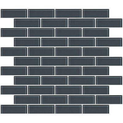 1 x 3 Glass Subway Tile in Medium Gray