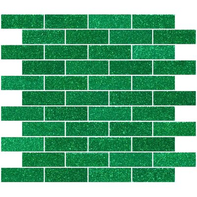 1 x 3 Glass Subway Tile in Emerald Green
