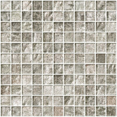 1 x 1 Glass Mosaic Tile in Crushed Crystal