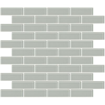 1 x 3 Glass Subway Tile in Light Gray