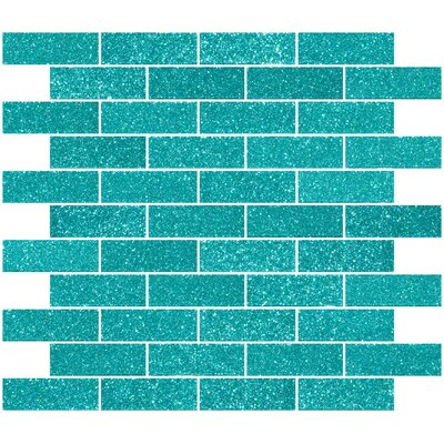 1 x 3 Glass Subway Tile in Aqua Green