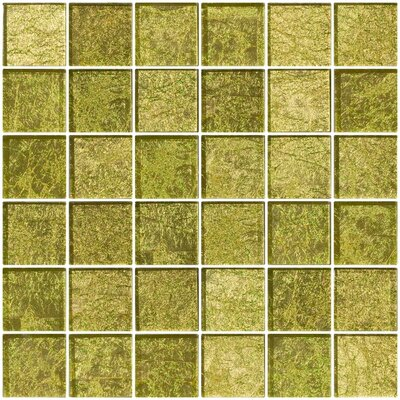 2 x 2 Glass Mosaic Tile in Golden Dew