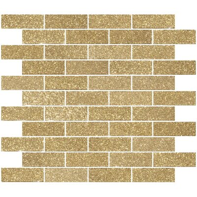 1 x 3 Glass Subway Tile in Light Gold
