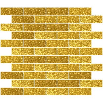 1 x 3 Glass Subway Tile in Gold