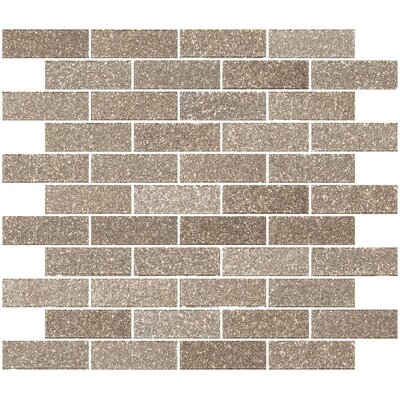 1 x 3 Glass Subway Tile in Taupe Gold