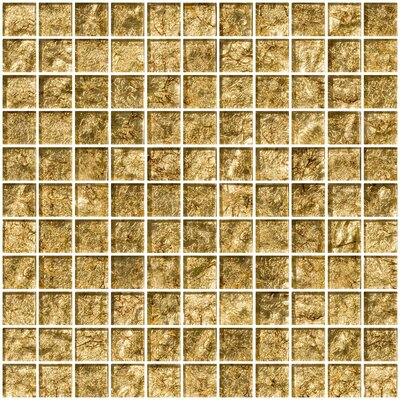 1 x 1 Glass Mosaic Tile in Tahitian Bronze
