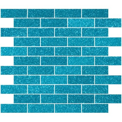 1 x 3 Glass Subway Tile in Glossy Turquoise blue