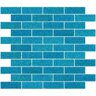 1 x 3 Glass Subway Tile in Cerulean Blue