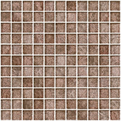 1 x 1 Glass Mosaic Tile in Mocha Pearl
