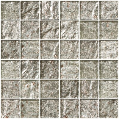 2 x 2 Glass Mosaic Tile in Crushed Crystal