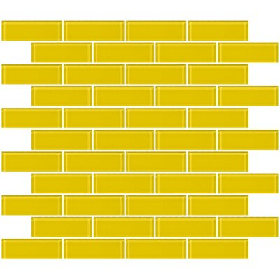 1 x 3 Glass Subway Tile in Bright Yellow