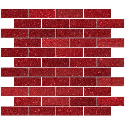 1 x 3 Glass Subway Tile in Glossy Red