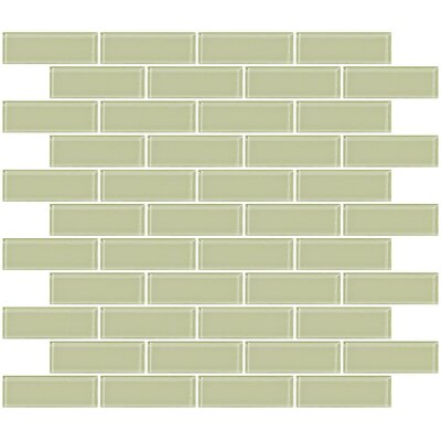 1 x 3 Glass Subway Tile in Celery Yellow