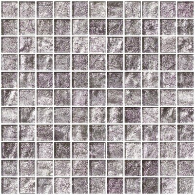 1 x 1 Glass Mosaic Tile in Lavender Pearl