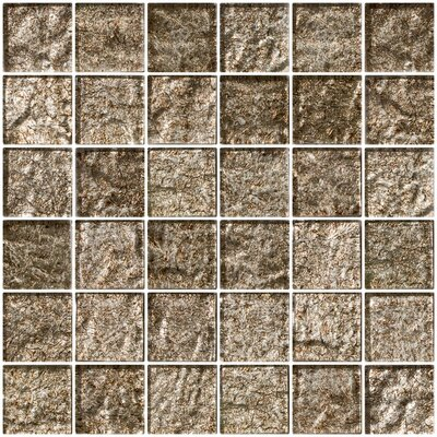 2 x 2 Glass Mosaic Tile in Espresso Brown