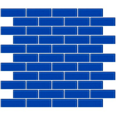 1 x 3 Glass Subway Tile in Periwinkle Blue