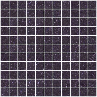 1 x 1 Glass Mosaic Tile in Purple Plum