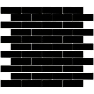 1 x 3 Glass Subway Tile in Black