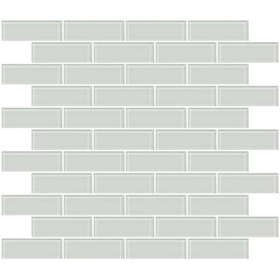 1 x 3 Glass Subway Tile in White