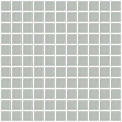 1 Light Gray Glass Tile (Set of 2)