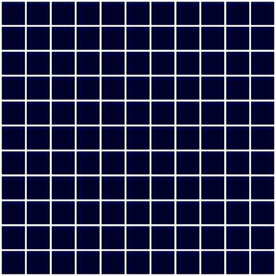 1 x 1 Glass Mosaic Tile in Navy Blue