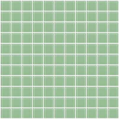 1 x 1 Glass Mosaic Tile in Mint Green
