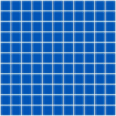 1 x 1 Glass Mosaic Tile in Periwinkle Blue