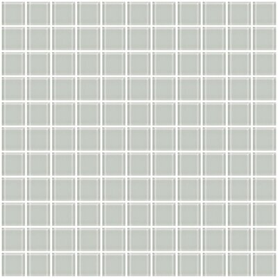 1 x 1 Glass Mosaic Tile in White