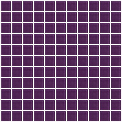 1 x 1 Glass Mosaic Tile in Lavender Purple
