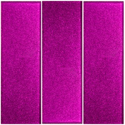 Architects Overstock Fuchsia Glitter 4 x 12 Glass Subway Tile