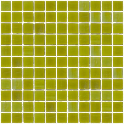 Architects Overstock Opaque 1 x 1 Glass Mosaic Tile in Chartreuse