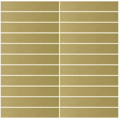 Architects Overstock 1 x 6 Mirrored Glass Subway Tile in Gold