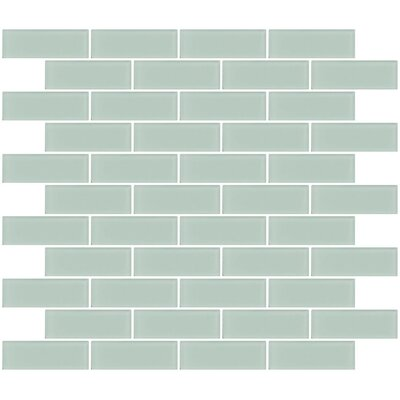 Architects Overstock Frosted 1 x 3 Glass Subway Tile in Pale Aqua Blue