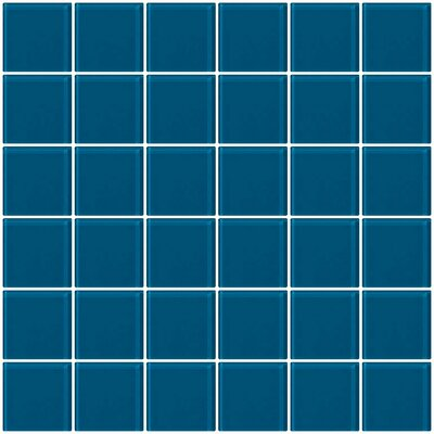Architects Overstock 2 x 2 Glass Mosaic Tile in Deep Turquoise Blue