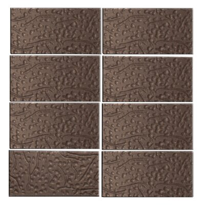 Architects Overstock 3 x 6 Glass Subway Tile in Brown