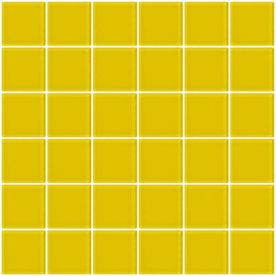 Bijou 22 2 x 2 Glass Mosaic Tile in Bright Yellow