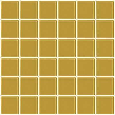 Bijou 22 2 x 2 Glass Mosaic Tile in Honey Brown