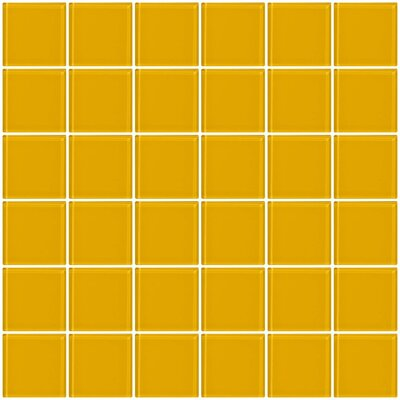 Bijou 22 2 x 2 Glass Mosaic Tile in Burnt Yellow